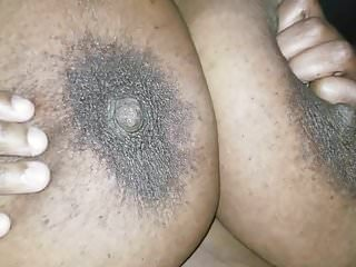 Cum shot black man - Cum shot on fat black tits