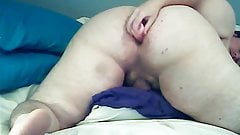 Chubby femboy PAWG toys his ass on cam - pt1