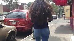 Cum on unsuspected hair's girl, lechazo en cabello y culo