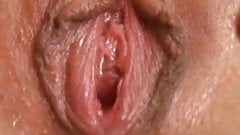 Young blonde fucks herself and cums very wet
