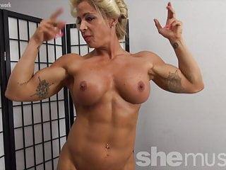 Pics of naked female asses Naked female bodybuilder pinup girl