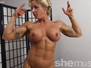 Naked female posters Naked female bodybuilder pinup girl