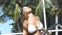 Christina Model White Bikini Dance