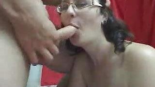 Horny wife sucks till she gets cummed