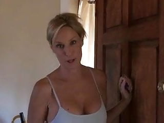 Moms giving cum - Mom gives son a blowjob in yoga pants