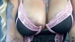 Playing with my pussy in the car