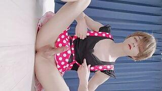 pretty japanese sissy masturbateing and cum alot