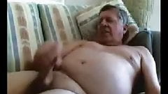 Daddy with nice belly jacking off