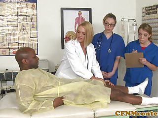 Nurse porn cfnm Cfnm nurses have hardcore hospital room orgy