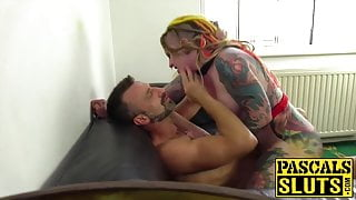 Oral sex with brutal drilling for an English submissive lady