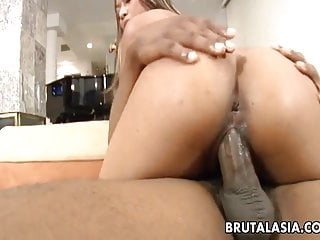 Asian bitches getting fucked - Sizzling hot asian bitch getting fucked by a black dude