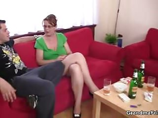 Young banged ass Mature bitch gets her throat and ass banged