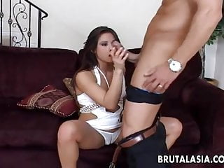 Fine bikini hotties - Very hot brunette hottie with a fine ass gets thrashed