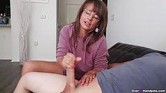 Step-mom caught me masturbating