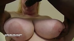 Big tits Granny is back for more BBC