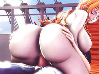 Naruto one piece hentai One piece - big ass nami 3d hentai