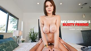 Naughty America - Busty Babe Gabbie Carter fucks you
