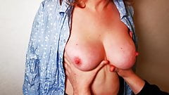 Using her tits for fun - Slap until red Part 1 – Director's cut