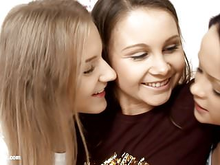 Sapphic lesbian kissing - Young hotties angelina dulce and malia by sapphic erotica