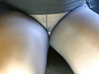 Pantyhose crossdressing stories Crossdresser pantyhose legs black mini 033