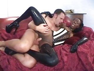 Stunning Black Woman In Latex Bangs A White Guy