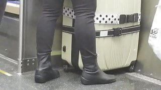 A THICK Asian on the CTA train