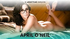 ADULT TIME Busty April O'Neil's Hottest Lesbian Sex Scenes
