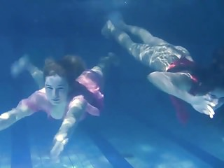 Two girls clitoris touching Two hot lesbians underwater touching eachother