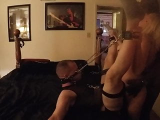 Shes fucked again and gear daddies Guy getting fucked by his wife while she takes bbc again