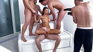 MONICA FOX' FIRST DOUBLE PENETRATION GANGBANG WITH 4 GUYS 2