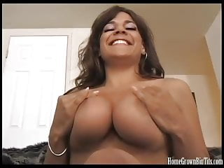 Big tit flash vid - Big tit amateur beauty drilled by a big cock in homemade vid