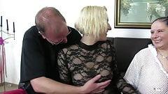 XxxOmas - Fat German slut gets fucked hard in foursome