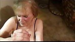 Granny Handjob #10 In The Kitchen