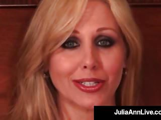Blonde busty smokes smokes Busty blonde milf julia ann smokes a cig plays with pussy