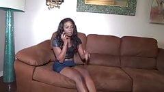 Ebony Babysitter in Trouble