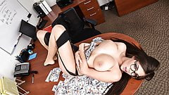 Curvy Bank Manager Fucking a Big Cock Customer