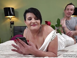 Chubby cum lovers - Chubby granny dolly bee and her lover