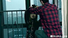 Fejira com Captured girl on latex catsuit