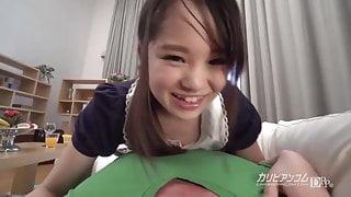 Little sister Love Sucking a Big Cock - Risa Oomomo