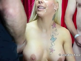 Heat guns to strip - Bukkake gangbang mit mia gun