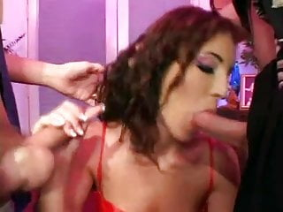 Anal itchy skin care Milf takes care of 2 guys with her ass