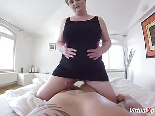 Bbw mom sex - Hot pov sex with busty stepmom