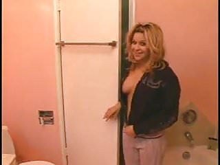 Pussy loo Blond slag pisses in the loo 1