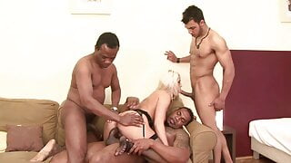 MILF interracial anal sex party - DP - orgy and gangbang – BBC
