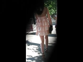 Self made amateur videos Upskirt teen in pink dress self-made