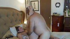 Bear fucks his wife hard