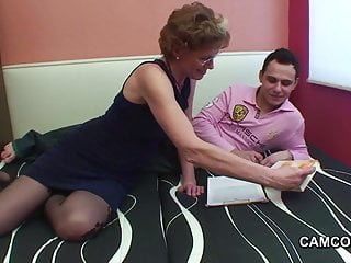 Causes of less sperm German milf teacher exploit young boy to fuck in privat less
