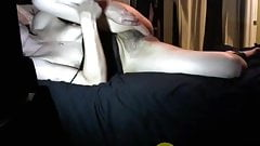 Milf with hairy pussy masturb