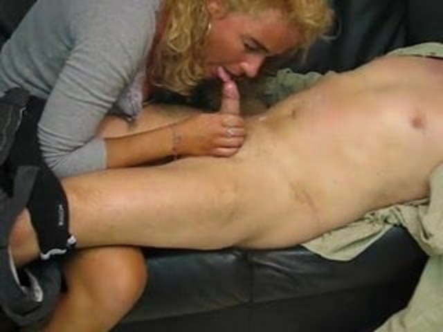 Hot Blonde Gives Handjob