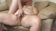 Big hairy blonde takes it up the bum